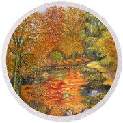 Autumn Colours Round Beach Towel