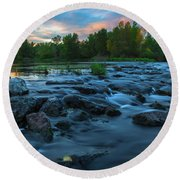 Round Beach Towel featuring the photograph Autumn Comes by Davor Zerjav