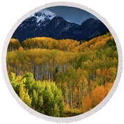 Autumn Comes To The Ruby Range Round Beach Towel