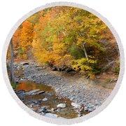 Autumn Creek  1 Round Beach Towel