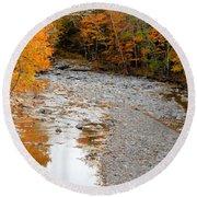 Autumn Creek 9 Round Beach Towel