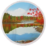 Round Beach Towel featuring the painting Autumn Dream by Kenneth M Kirsch
