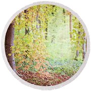 Autumn Dreams Round Beach Towel by Melanie Alexandra Price