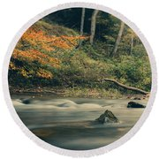 Round Beach Towel featuring the photograph Autumn Dreamscape by Shane Holsclaw