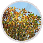 Autumn Flames - Original Round Beach Towel