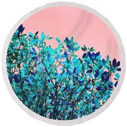 Autumn Flames - Peach Round Beach Towel