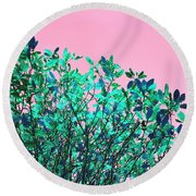 Autumn Flames - Pink Round Beach Towel