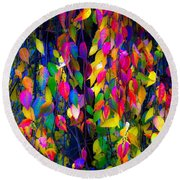 Autumn Flre Round Beach Towel
