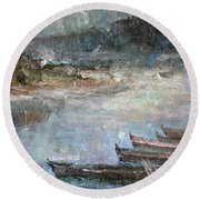 Autumn Fogs In Kin Round Beach Towel