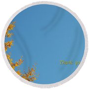 Autumn Ginkgo Tree Round Beach Towel