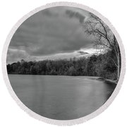 Round Beach Towel featuring the photograph Autumn Gloom by Rod Best
