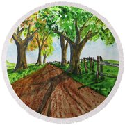 Round Beach Towel featuring the painting Autumn Glory by Jack G Brauer