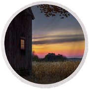 Round Beach Towel featuring the photograph Autumn Glow Square by Bill Wakeley