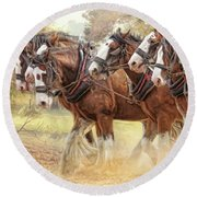Autumn Harrow Round Beach Towel