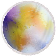 Autumn I Round Beach Towel