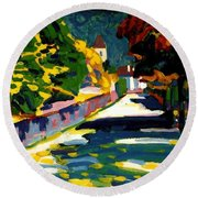 Autumn In Bavaria Round Beach Towel