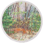 Autumn In Canada Round Beach Towel by Lisa Boyd