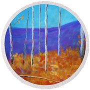 Autumn In Cloudcroft Round Beach Towel