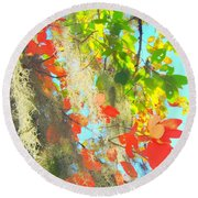 Autumn In Dixie  Round Beach Towel