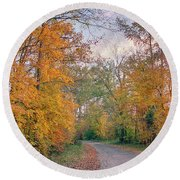 Autumn In East Texas Round Beach Towel