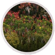 Autumn In Idaho Round Beach Towel by Yeates Photography