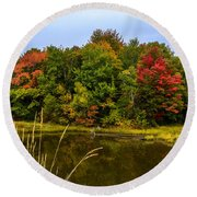 Autumn In Mabou Round Beach Towel by Ken Morris