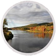 Autumn In Margaree Valley Cape Breton Round Beach Towel