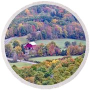 Autumn View, Mohonk Preserve Round Beach Towel