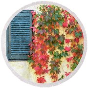 Autumn In Napa Round Beach Towel