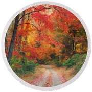 Autumn In New Jersey Round Beach Towel
