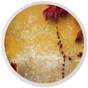 Round Beach Towel featuring the photograph Autumn In Red by Yuri Santin