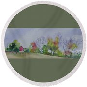 Autumn In Rural Ohio Round Beach Towel