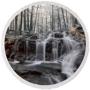 Autumn In Spring Infrared Round Beach Towel