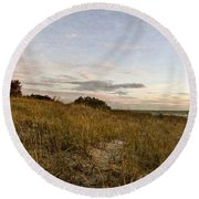 Round Beach Towel featuring the photograph Autumn In The Dunes by Michelle Calkins