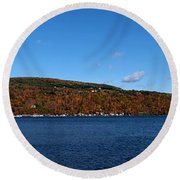 Autumn In The Finger Lakes Round Beach Towel