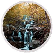 Autumn In The Mountains Round Beach Towel