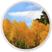 Autumn In The Owyhee Mountains Round Beach Towel