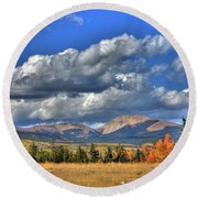 Autumn In The Rockies Round Beach Towel