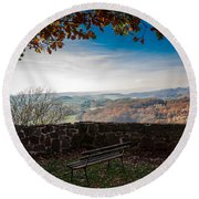 Autumn In The Southern Harz Round Beach Towel
