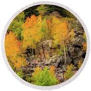 Autumn In The Uinta Mountains Round Beach Towel