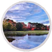Autumn Landscape 3 Round Beach Towel