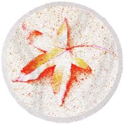 Autumn Leaf Art Round Beach Towel