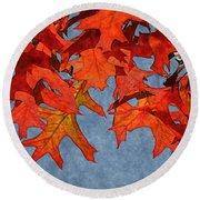 Autumn Leaves 19 Round Beach Towel