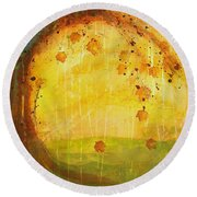 Autumn Leaves - Tree Series Round Beach Towel