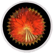 Autumn Leaves - Composition 2 Round Beach Towel