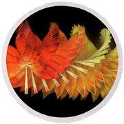 Autumn Leaves - Composition 2.2 Round Beach Towel