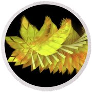 Autumn Leaves - Composition 2.3 Round Beach Towel