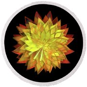 Autumn Leaves - Composition 4 Round Beach Towel