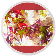 Autumn Leaves Experiment 2 Round Beach Towel
