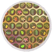 Autumn Leaves Round Beach Towel by Gaspar Avila